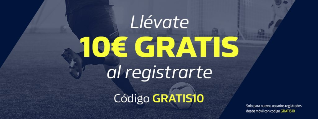 10 euros gratis William Hill apuestas deportivas.
